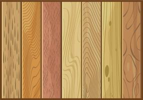 Vari generi di vettore libero di struttura di legno