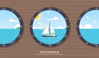 Vettore gratuito finestra della nave