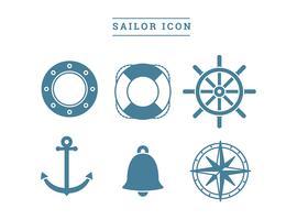Vettore libero dell'icona del marinaio