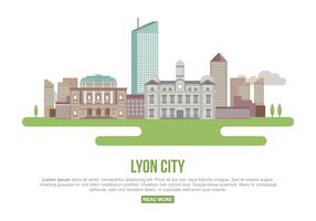 Illustrazione vettoriale di città di Lione