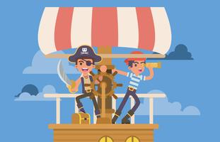 Ragazzini che giocano pirata