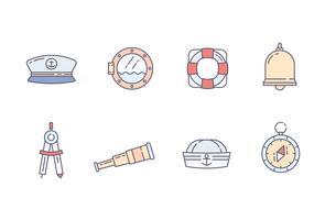 pacchetto di icone marine