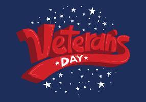 Veteran's Day Lettering Vector
