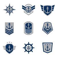 Collezione di vettore gratuito Seal Navy