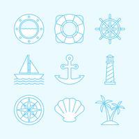 Icone nautiche vettore