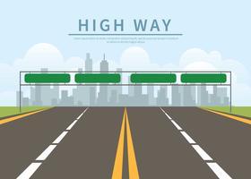 Illustrazione di autostrada infinita gratis vettore