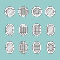 Icone della finestra della nave vettore