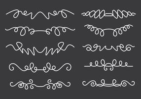 Set di linee ondulate vettore
