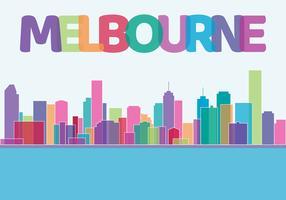 Skyline della città di Melbourne vettore