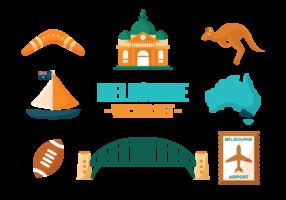 Melbourne icone vettoriali