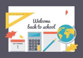 Sfondo vettoriale di ritorno a scuola gratis