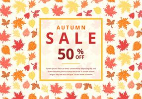 Fondo di vettore di vendita di autunno con le foglie di acero