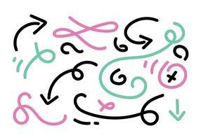 Elementi vettoriali disegnati a mano
