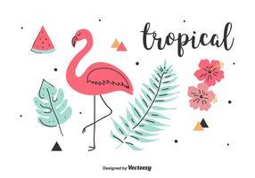 Set vettoriale tropicale