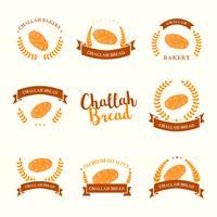 vettore di logo del pane di challah