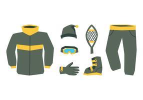 Abbigliamento sportivo invernale vettore