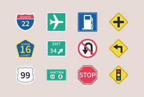 Vettore dei segnali stradali della strada principale