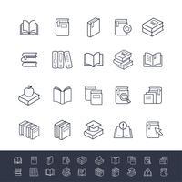 Set di icone del libro vettore