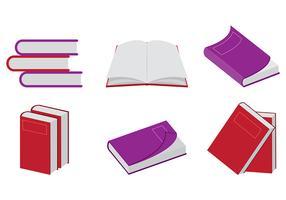 Vettori di libri rossi