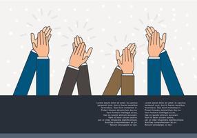 Mani che applaudono vettore