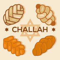 Vettore libero delle icone del pane di Challah