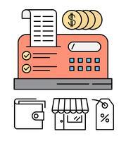 Illustrazione del registratore di cassa