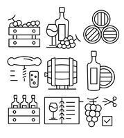 Icone gratuite sul vino vettore