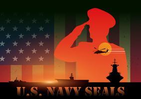 vettore di sigilli della marina
