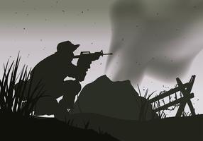 Vettore libero della guerra della siluetta della guarnizione della marina
