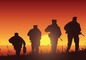Vettore libero della siluetta di addestramento della guarnizione della marina
