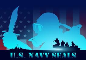 Vettore del fondo delle guarnizioni della marina