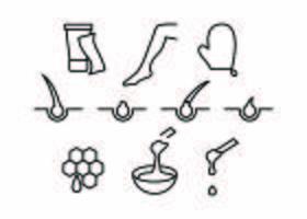 Linea di depilazione gratuita Icon Vector
