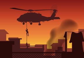 Vettore libero dell'elicottero della guarnizione della marina