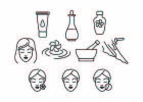 Linea di bellezza gratis Icon Vector