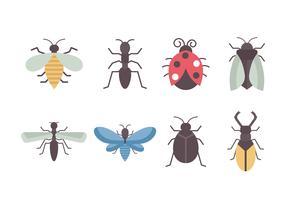 Collezione di insetti vettoriali gratis