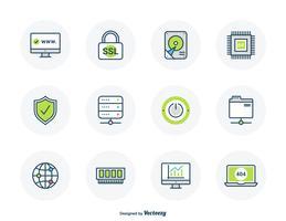 hosting di icone di contorno riempito