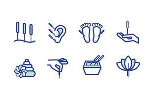 Pacchetto di icone di agopuntura