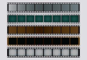 Set vettoriale negativo fotografico