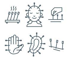 Icone di vettore di agopuntura