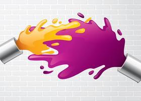Dipinga il vettore libero della spruzzata del vaso
