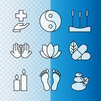 Icone della medicina alternativa vettore