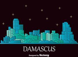 Vettore di paesaggio urbano di Damasco