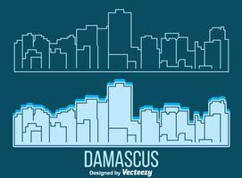 vettore di skyline di Damasco