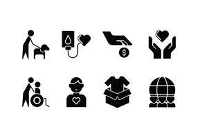 Gentilezza icona set vettoriale