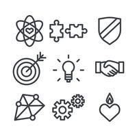 Vettori di icone etiche