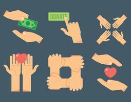 Gentilezza icone vettoriali