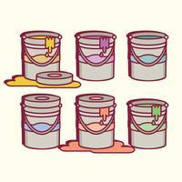 vasi di vernice vettoriale