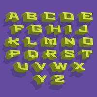 Icone di vettore di caratteri 3D