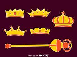 royal scettro e corona vettoriale