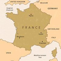 Mappa del vettore di Francia
